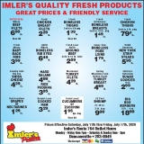 Imler's Weekly Specials