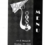 Bing's Diner Menu