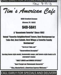 Tim's American Cafe'